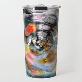 abstract ink flower x Travel Mug