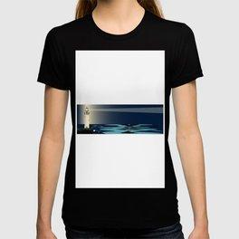 Lighthouse Night Background T-shirt