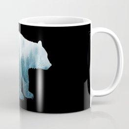 Misty Forest Bear - Turqoise Coffee Mug