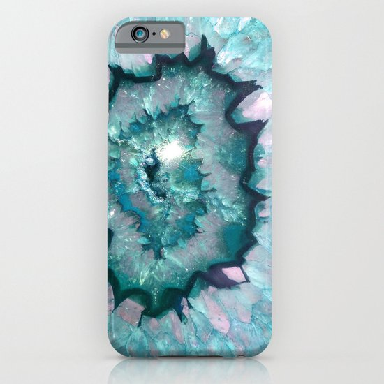Teal Agate Iphone Case By Thequarry Society6