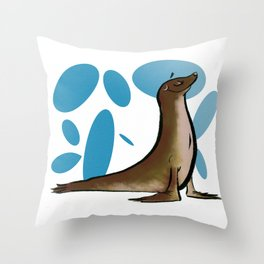 Sealed and Approved Throw Pillow
