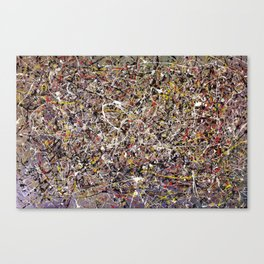 Intergalactic - Jackson Pollock style abstract painting by Rasko Canvas Print