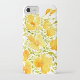 Watercolor California poppies (Quad set, #2) iPhone Case