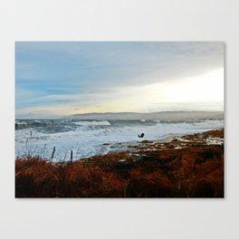Sainte-Anne-Des-Monts and the Surf Canvas Print