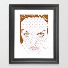 Pop art face Framed Art Print