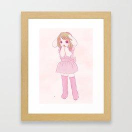 lop ear rabbit girl Framed Art Print