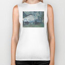 Claude Monet - Arrival of the Normandy Train Biker Tank