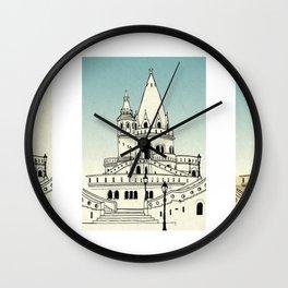 Fisherman's Bastion - Budapest - Hungary Wall Clock