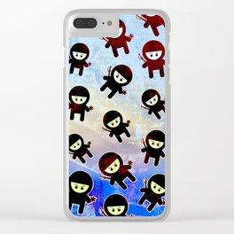 Ninja! Ninja! Ninja! Clear iPhone Case