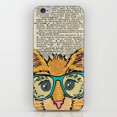 Orange Kitty Cat iPhone & iPod Skin