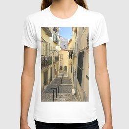 Narrow Alleyway in Lisbon, Portugal T-shirt