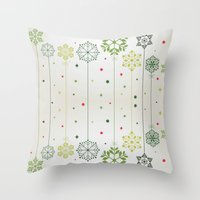 deco Throw Pillows featuring Holidays Deco by Elena Indolfi