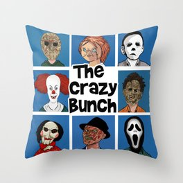 The Crazy Bunch Throw Pillow
