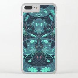 Fireworks on Venus Floral Mandala Clear iPhone Case