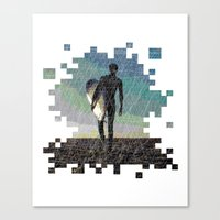 surfer Canvas Prints featuring Surfer by NeleVdM