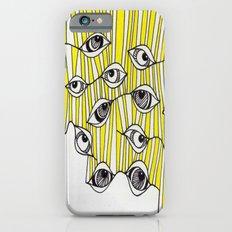 Yellow Stripey Eyes iPhone 6s Slim Case