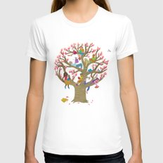 Tree Readers Womens Fitted Tee White X-LARGE