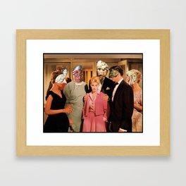 Mask Party Framed Art Print