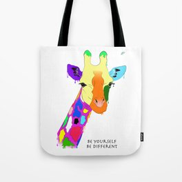 Be yourself, be different - Giraffa Tote Bag