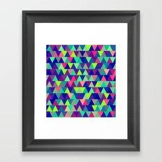 Triangle Mix #2 Framed Art Print