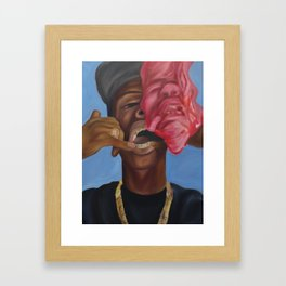 Gold Teeth Have So Much To Say Framed Art Print