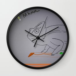 Thoughtful Cameleon Wall Clock