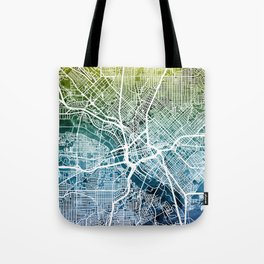 Dallas Texas City Map Tote Bag