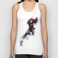 black widow Tank Tops featuring Black Widow by Isaak_Rodriguez
