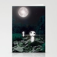 kodama Stationery Cards featuring Forest Spirits (Kodama)   by pkarnold + The Cult Print Shop