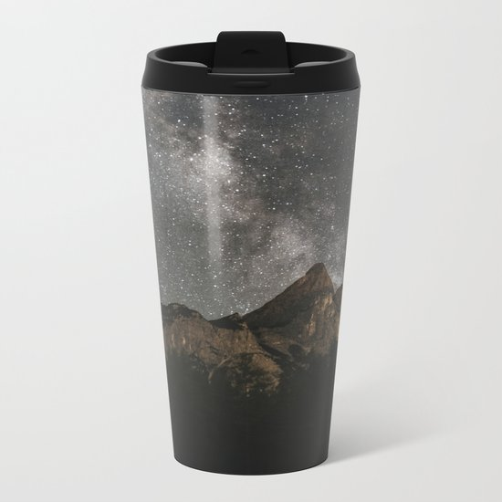 Milky Way Over Mountains - Landscape Photography Metal Travel Mug