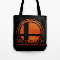 smash bros Tote Bags featuring Super Smash Bros.  by Donkey Inferno