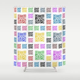 fun of QR Shower Curtain