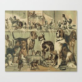VINTAGE DOG Pop Art Canvas Print