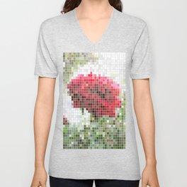 Red Rose with Light 1 Mosaic Unisex V-Neck