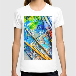 Palette And Brushes T-shirt