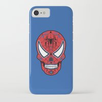 superheros iPhone & iPod Cases featuring Spidey Sugar Skull by Clark Street Press