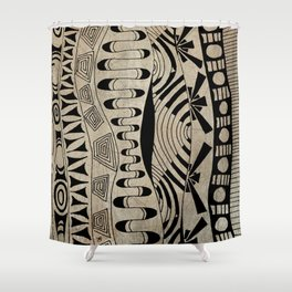 Lines Waves Shower Curtain