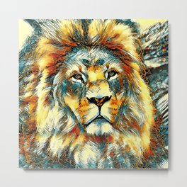 AnimalArt_Lion_20171004_by_JAMColorsSpecial Metal Print