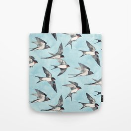 Blue Sky Swallow Flight Tote Bag