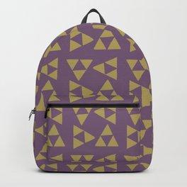 Print 132 - The Legend Of Zelda Triforce - Purple Backpack