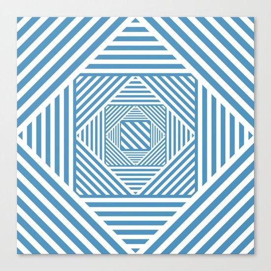 Blue & White Secret Passage Canvas Print