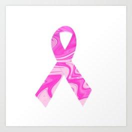 Breast Cancer Awareness Ribbon Art Print, Wall Tapestry, Coffee Mugs, Shirts Art Print