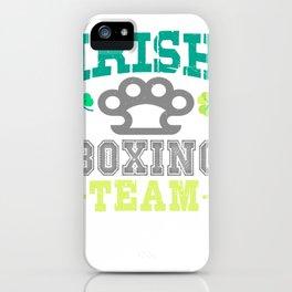 Irish Boxing Team Brass Knuckles iPhone Case