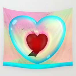 heart in a bubble Wall Tapestry