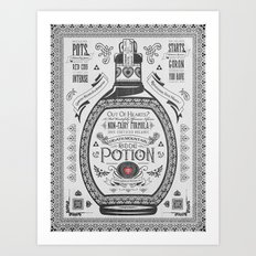 Legend of Zelda Red Chu Potion Advertisement Art Print