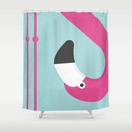 Flamingo No.2 Shower Curtain
