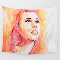 bad wolf Wall Tapestries featuring Bad Wolf by Maria Bruggeman