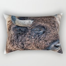 Bison the Mighty Beast Rectangular Pillow