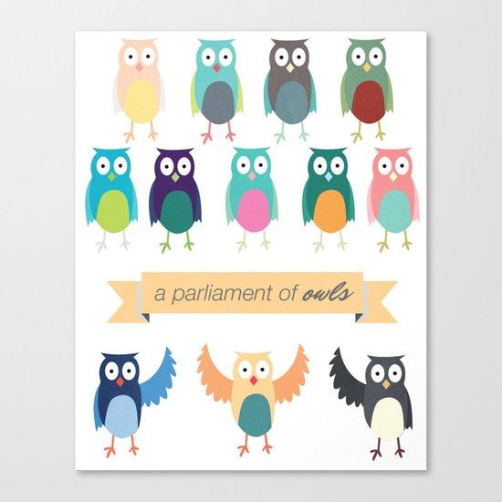 A Parliament of Owls Canvas Print