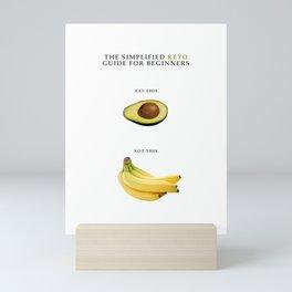 Humorous Keto Ketogenic Diet Chart Mini Art Print